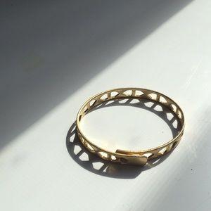 Madewell cut out brass bracelet